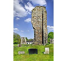 West Wall Remains, Ticknall Old Church Photographic Print