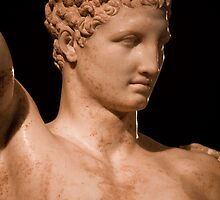 Greece. Ancient Olympia. Hermes by Praxiteles. Detail. by vadim19