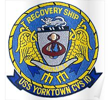USS Yorktown CVS-10: Apollo 8 Recovery Patch Poster