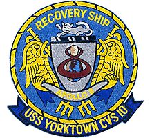 USS Yorktown CVS-10: Apollo 8 Recovery Patch Photographic Print