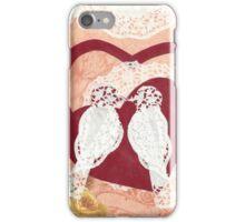 Love Birds Paper Collage iPhone Case/Skin
