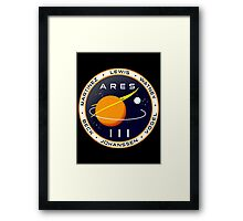Ares 3 mission to Mars - The Martian Framed Print