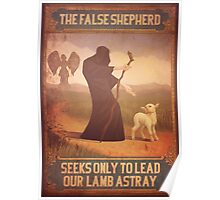 BioShock Infinite – The False Shepherd Seeks Only To Lead Our Lamb Astray Poster Poster