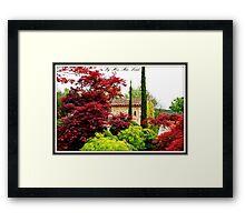 Provence House Framed Print