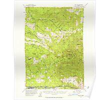 USGS Topo Map Oregon Mill City 282712 1955 62500 Poster