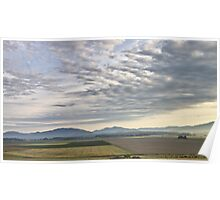 Skagit valley farmlands Poster