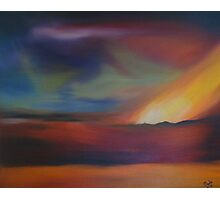 Volcanic Northern Lights Photographic Print