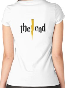 Harry Potter - The End - Back Black Women's Fitted Scoop T-Shirt
