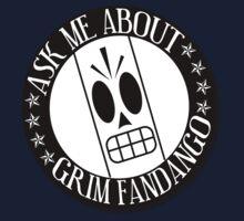 Ask Me About Grim Fandango T-Shirt Kids Clothes