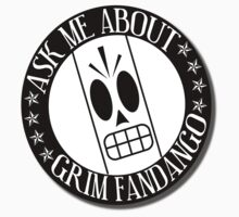 Ask Me About Grim Fandango T-Shirt by Reediculous12