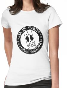 Ask Me About Grim Fandango T-Shirt Womens Fitted T-Shirt