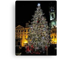 Christmas tree in Prague Canvas Print