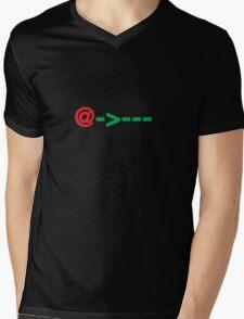SMS / ASCII Rose Mens V-Neck T-Shirt