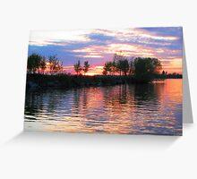 Sunset at Frink Park Greeting Card