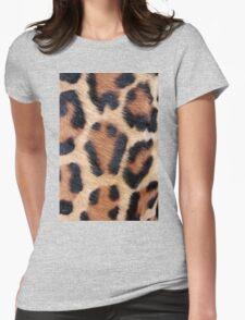leopard fur Womens Fitted T-Shirt