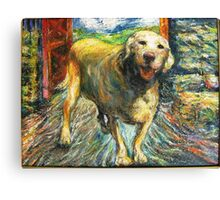 Xena, Yellow Rock Star Lab Canvas Print