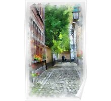 Lier - Picturesque Beguinage Street - Belgium Poster