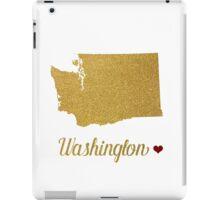 Gold Washington state map iPad Case/Skin
