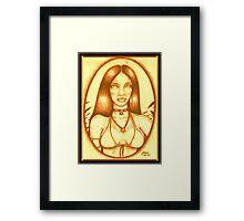 Golden Sorceress Framed Print