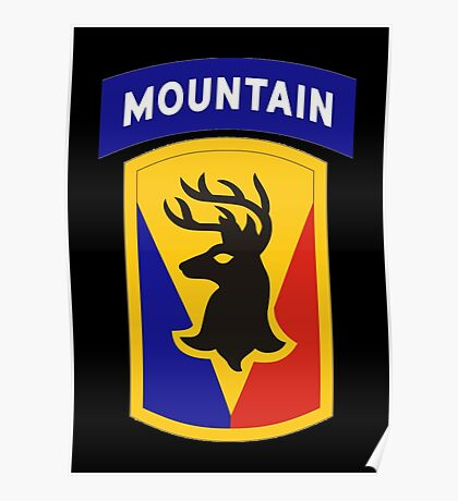 86th Infantry Brigade Combat Team 'The Vermont Brigade' (Mountain) US Army Poster