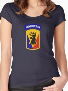 86th Infantry Brigade Combat Team 'The Vermont Brigade' (Mountain) US Army Women's Fitted Scoop T-Shirt