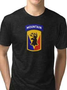 86th Infantry Brigade Combat Team 'The Vermont Brigade' (Mountain) US Army Tri-blend T-Shirt