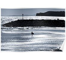 Lone Surfer - Sidmouth Poster