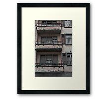 gloomy facade Framed Print