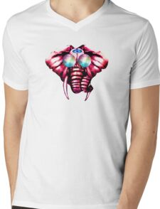 Elephant eye Mens V-Neck T-Shirt
