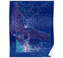 USGS Topo Map Oregon Portland 282792 1897 62500 Inverted Poster