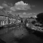 Mill pond - Swanage In B&W by delros