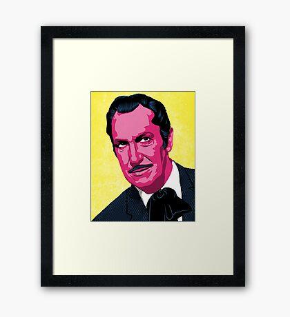 Vincent Price Framed Print