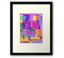 Blocks and Dots Framed Print