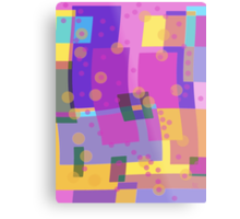 Blocks and Dots Metal Print