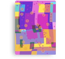 Blocks and Dots Canvas Print