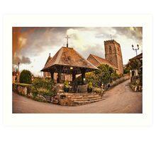 St Mary Church - Mortehoe - N Devon Art Print