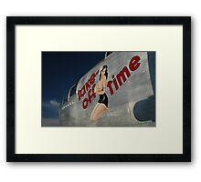 Take Off Time Framed Print