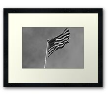 Windy Stars And Stripes Framed Print