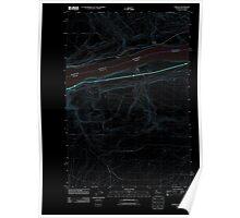 USGS Topo Map Washington Sundale 20110903 TM Inverted Poster