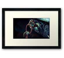 the lights are all flashing, I'm on my way home from your place Framed Print