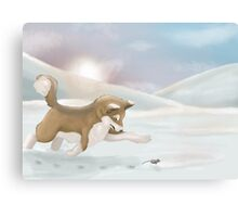 Morning Chase Canvas Print
