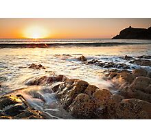 Liquid Gold, Abereiddy, Pembrokeshire, Wales Photographic Print