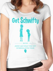 Get Schwifty 2015 Intergalactic Tour Women's Fitted Scoop T-Shirt