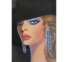 LADY WITH BLUE EARRINGS Photographic Print