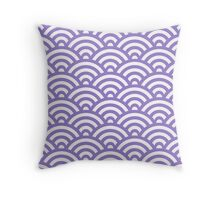 Lavander Japanese Inspired Waves Shell Pattern Throw Pillow