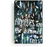 Firefly Diamonds Canvas Print