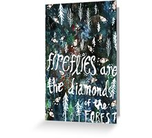 Firefly Diamonds Greeting Card
