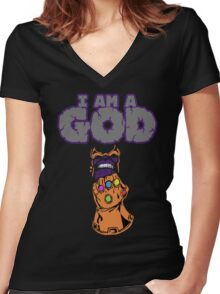 Thanos  Women's Fitted V-Neck T-Shirt