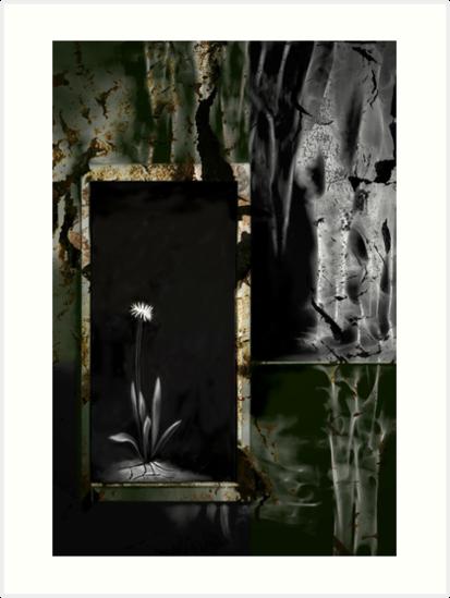 Desert Bloom - Abstract Art by Renee Dawson