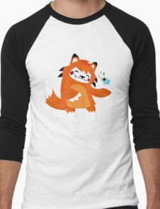the fox and the bird Men's Baseball ¾ T-Shirt